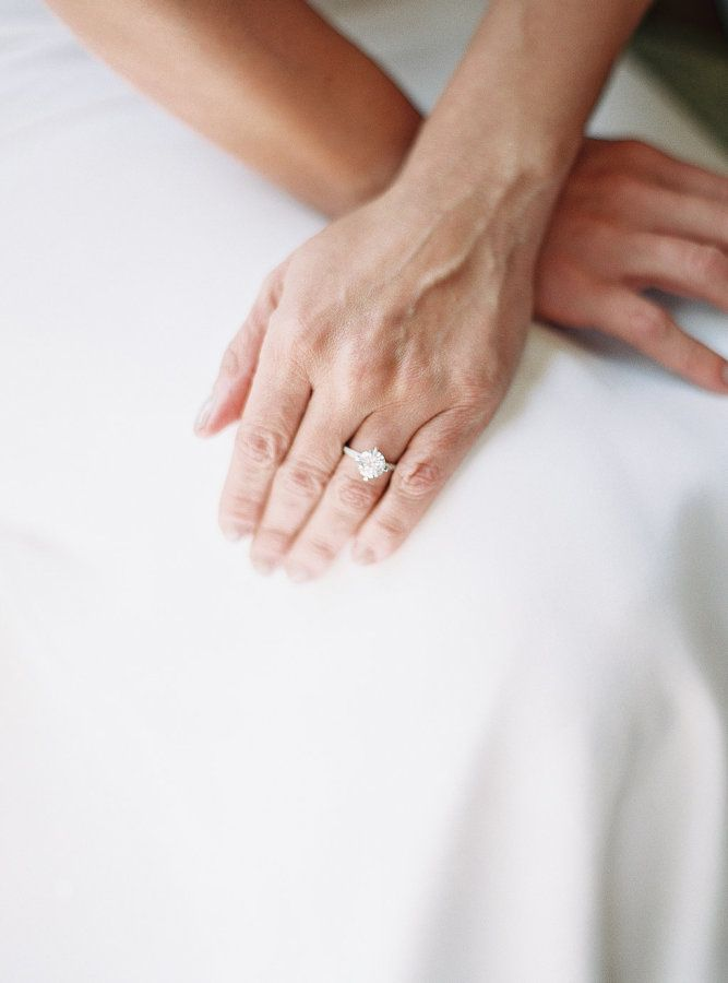 Gorgeous solitaire e-ring: www.stylemepretty... | Photography: Jake + Heather - ...
