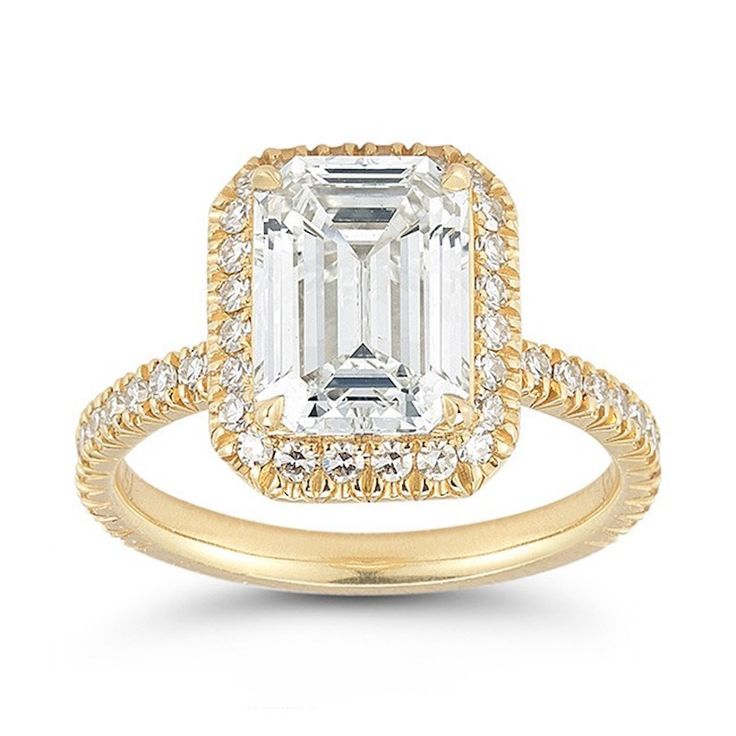 Marisa Perry The Emerald Cut InLove Setting: www.stylemepretty...