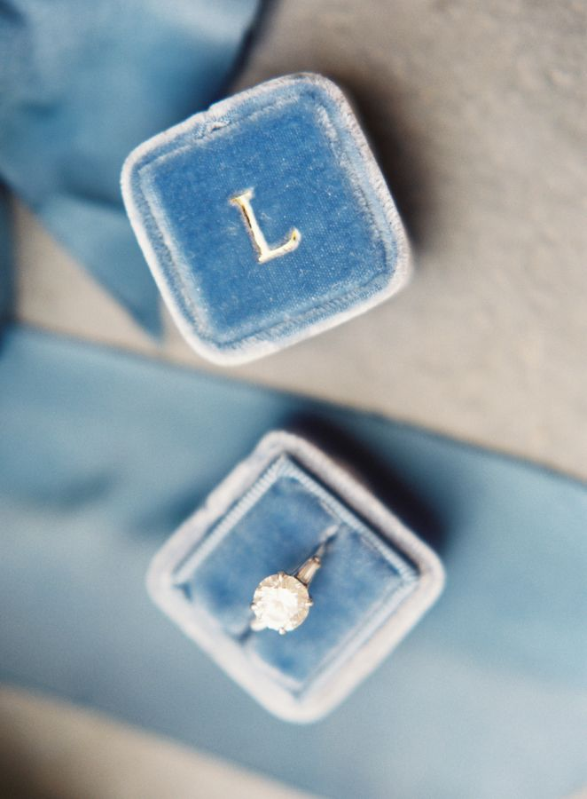 Pretty blue Mrs. Box: Classic Napa vineyard wedding: www.stylemepretty...   Phot...