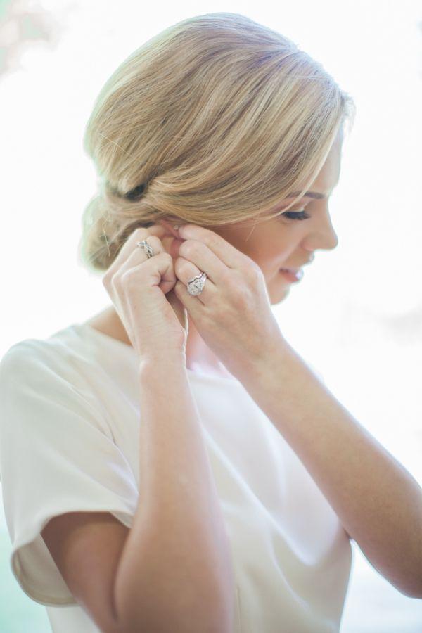 Pretty vintage engagement ring: www.stylemepretty...   Photography: Natalie Bray...