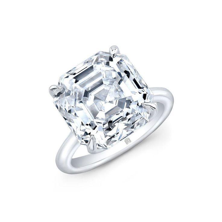 Rahaminov Diamonds Asscher Cut Diamond Ring www.stylemepretty...