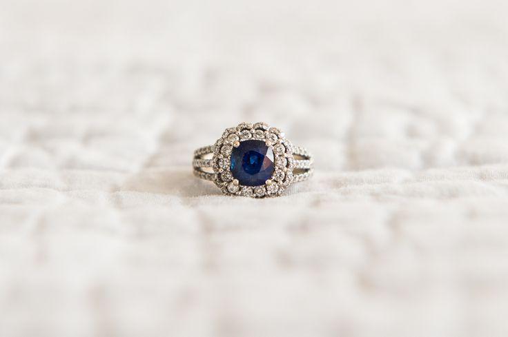 Regal sapphire engagement ring: www.stylemepretty...
