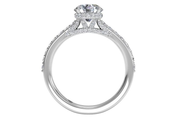Ritani French-Set diamond band engagement ring: www.stylemepretty...