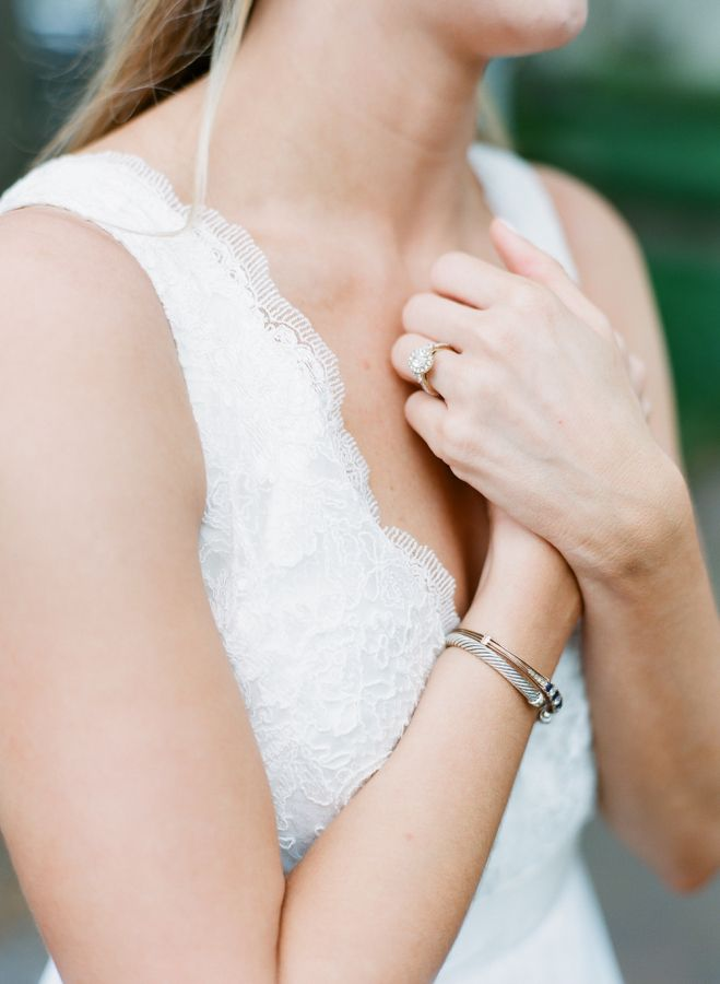 Round halo engagement ring: www.stylemepretty... | Photography: The Happy Bloom ...