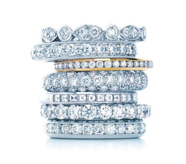 Stackable Tiffany & Co. wedding bands: www.stylemepretty...