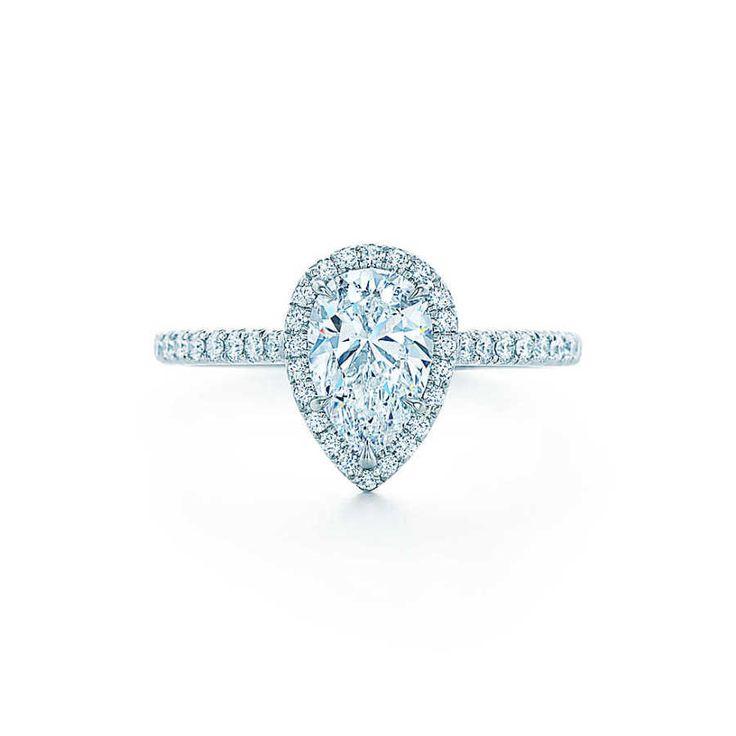 Stunning Tiffany & Co. pear cut engagement ring: www.stylemepretty...