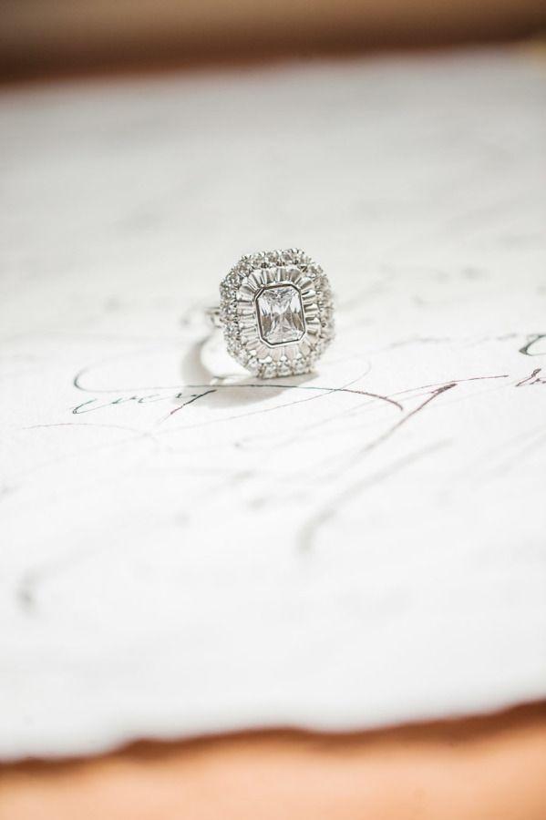 Stunning triple halo engagement ring: www.stylemepretty... | Photography: Sarah ...