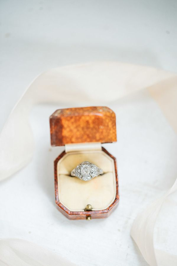 Stunning vintage engagement ring:  www.stylemepretty... | Photography: Sarah Hou...