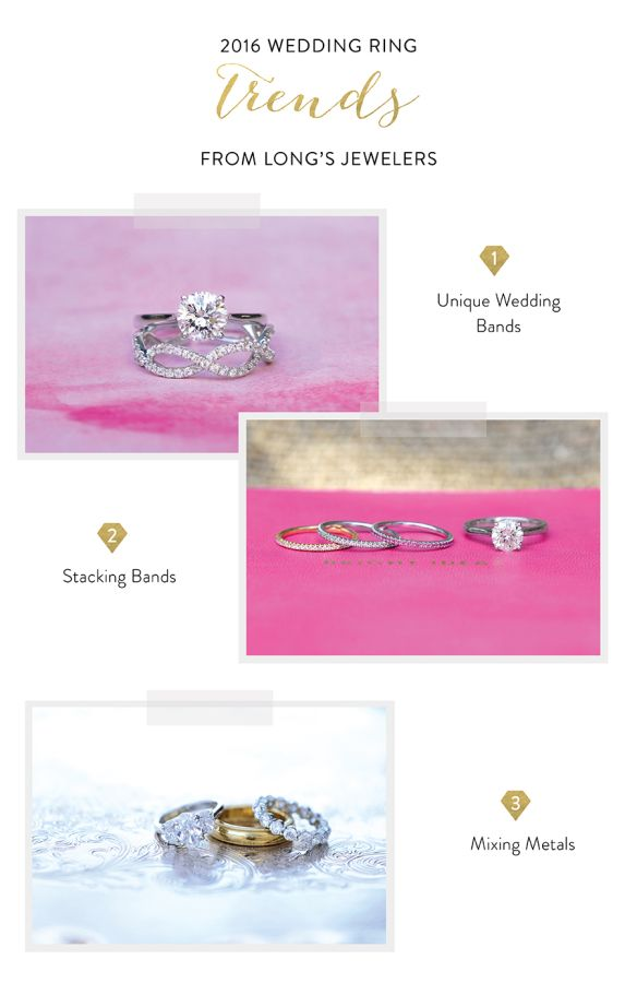 The top 2016 wedding ring trends, as told by our friends at Long's Jewelers! www...