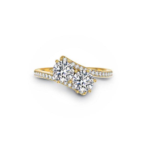 Two-stone rings: www.stylemepretty...