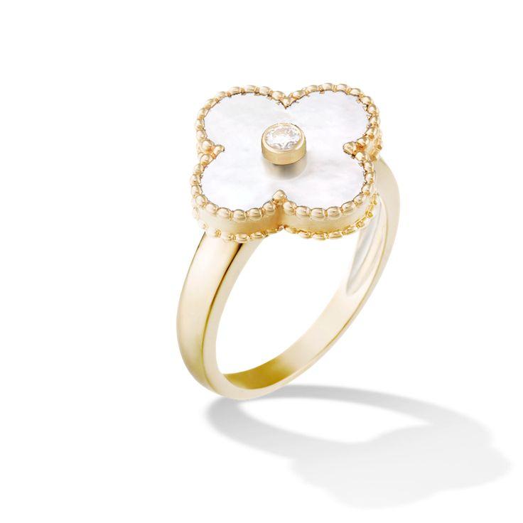Van Cleef & Arpels Vintage Alhambra Ring: www.stylemepretty...