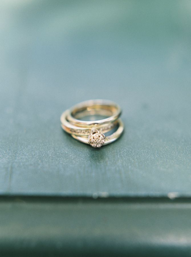 Vintage gold engagement ring: www.stylemepretty...   Photography: Kylie Martin P...