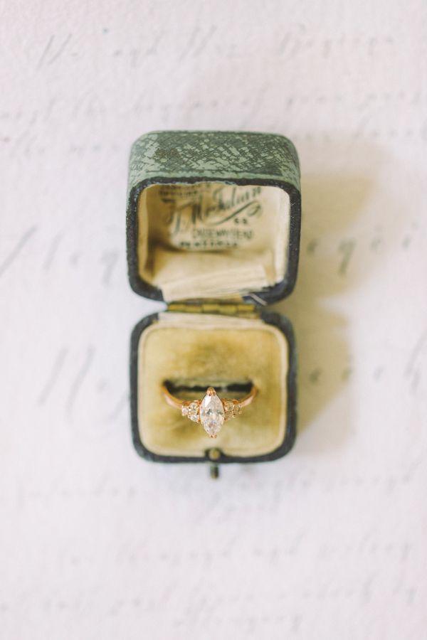 Vintage ring box: www.stylemepretty... | Photography: Nastja Kovacec Photography...