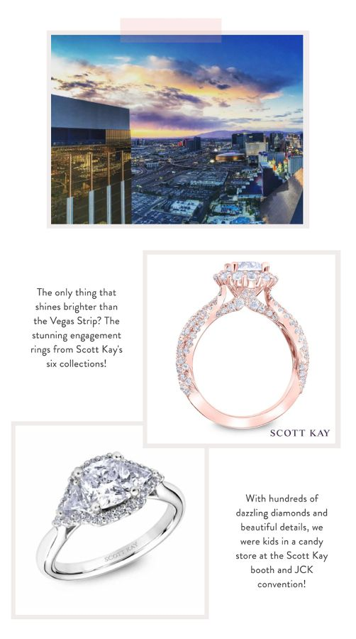 We fell in love with so many gorgeous Scott Kay engagement rings at JCK Las Vega...