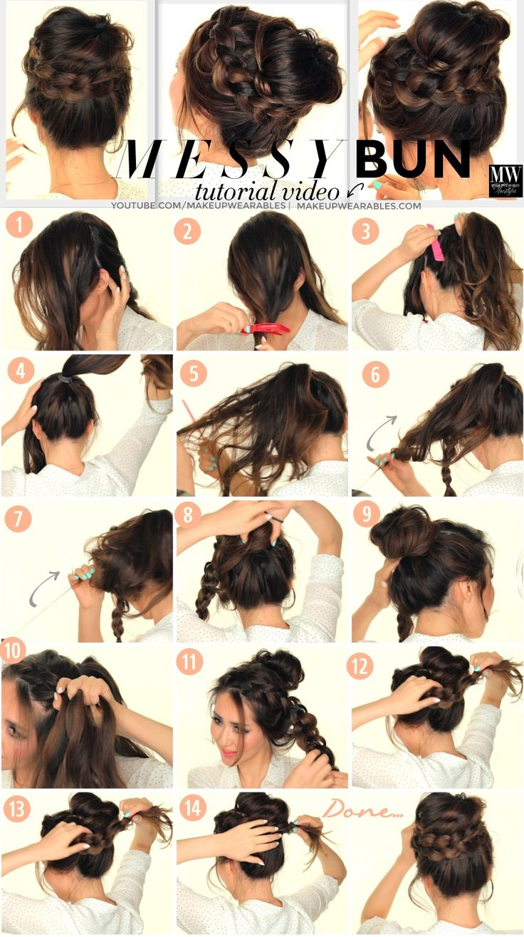 Hair Styles 2017 2018 Big Braided Messy Bun Tutorial Video Cute Prom Wedding Everyday Hairstyles Flashmode Middle East Middle East S Leading Fashion Modeling Luxury Agency Featuring Fashion Beauty Inspiration Culture