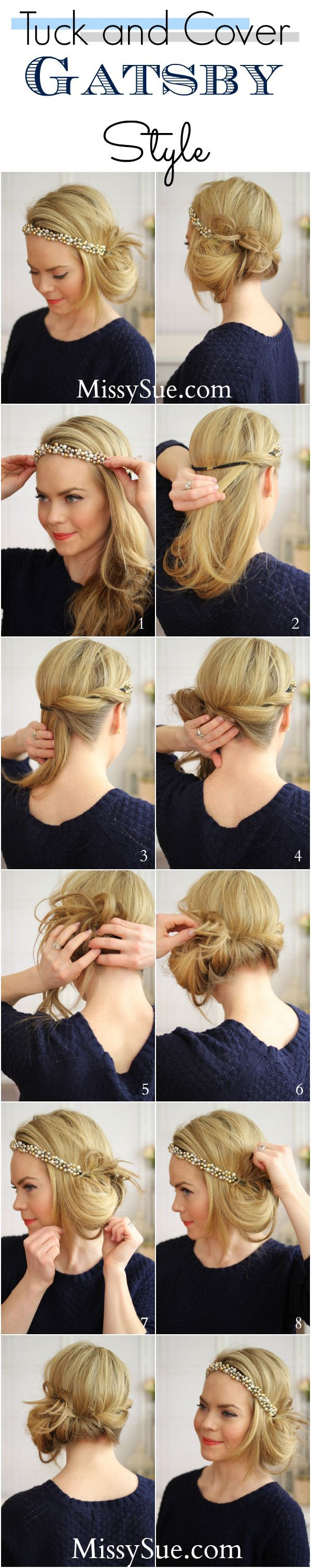 Gatsby Hair Style ~ Tuck and Cover - Style Estate - blog.styleestate....