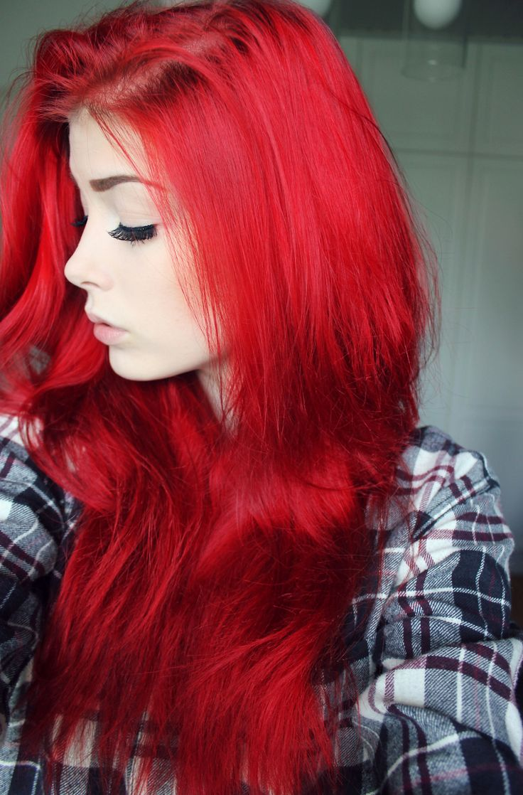 gorgeous colored red hair