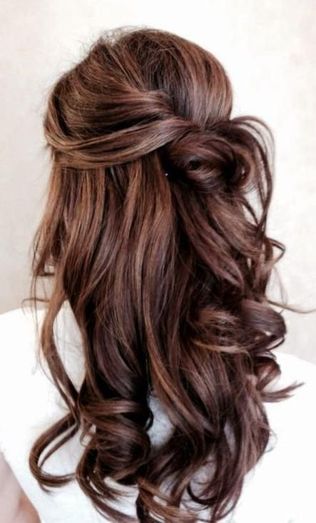 Half Up Hairstyle ~ 40 Gorgeous and Popular #Brunette #Hairstyles - Style Estate...