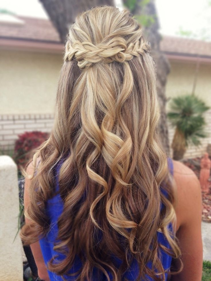 Half Up Half Down Hair Style with Braid: