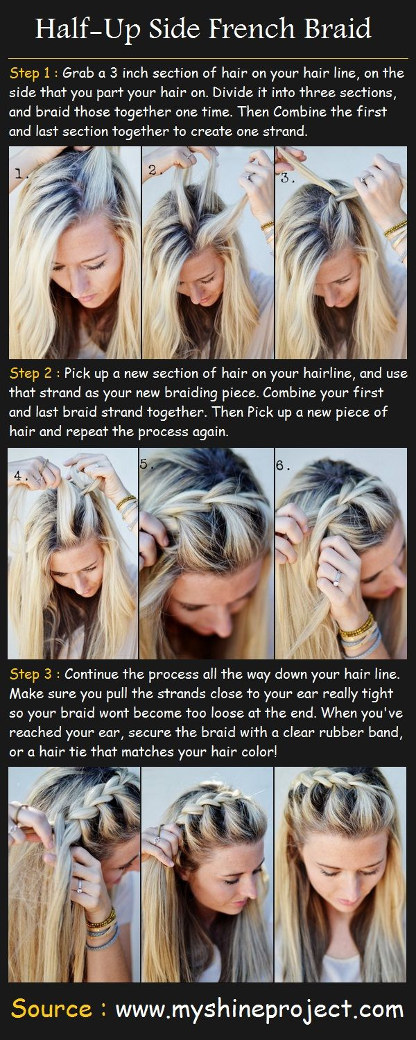 Hair Styles 2017 2018 Half Up Side French Braid Style Estate
