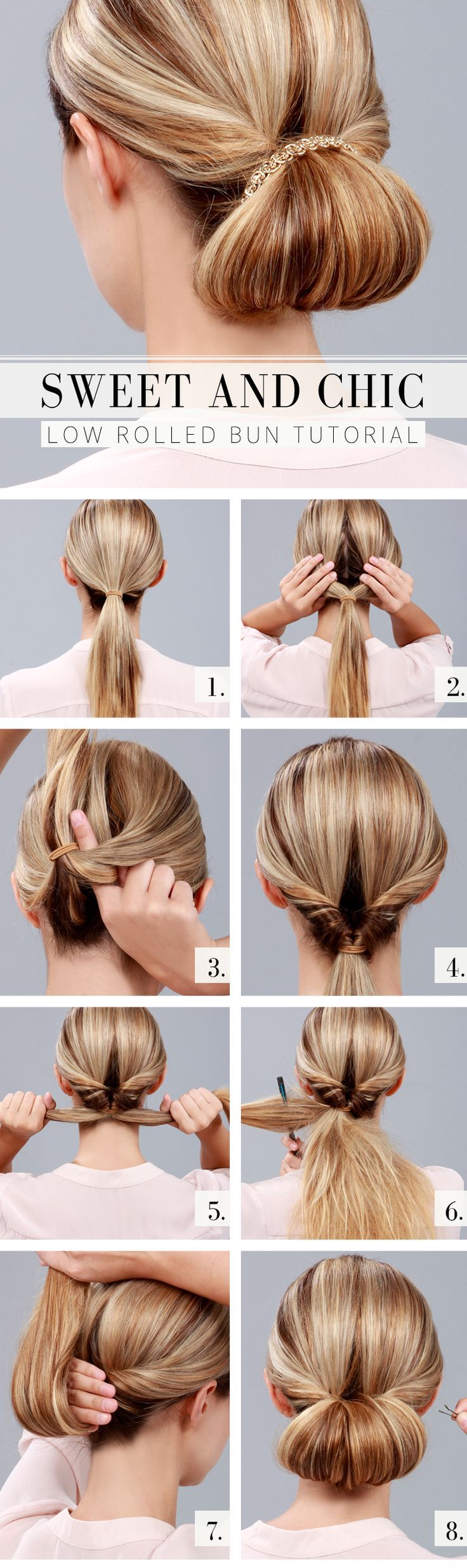 How-To: Chic Low Rolled Bun Tutorial!
