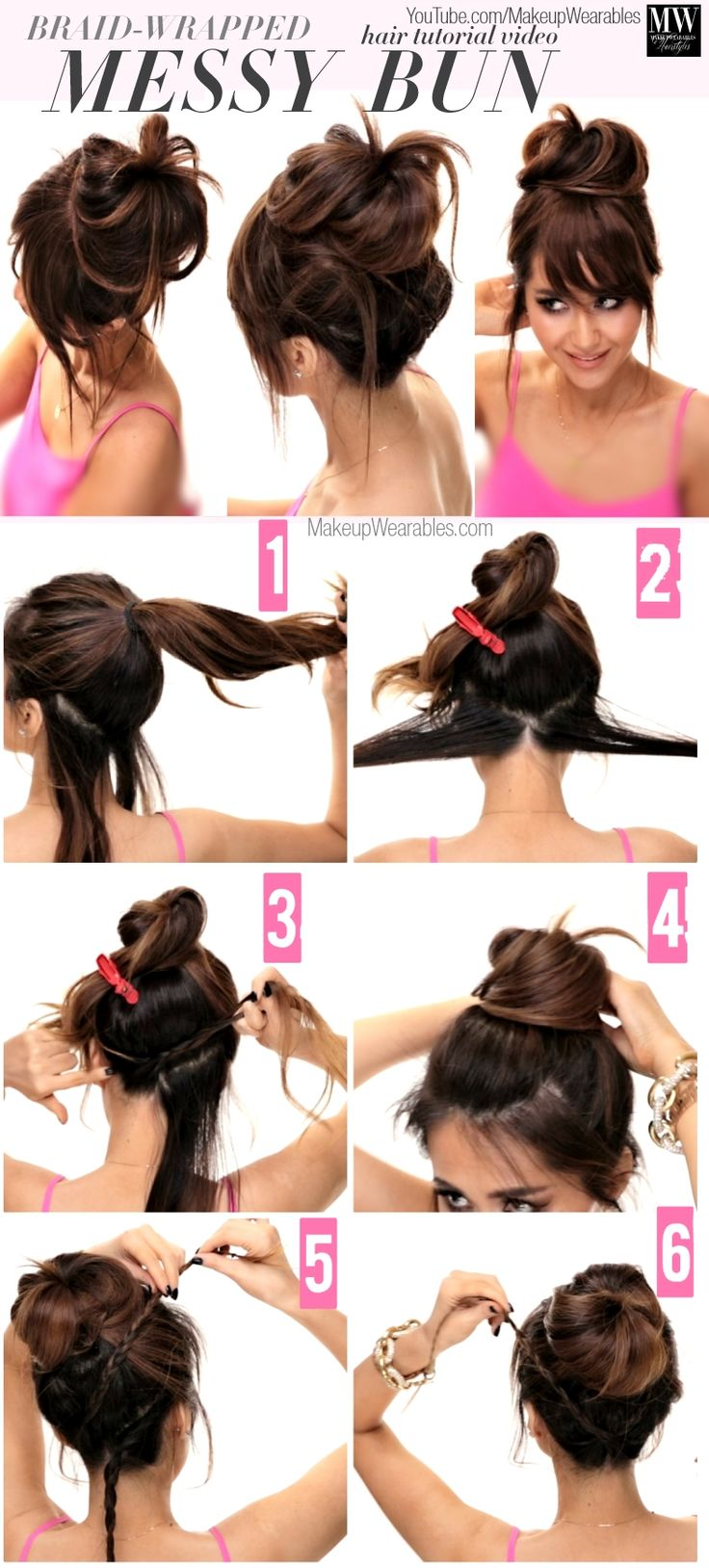 Hair Styles 2017 2018 How To Lazy Girls Messy Bun Hairstyles