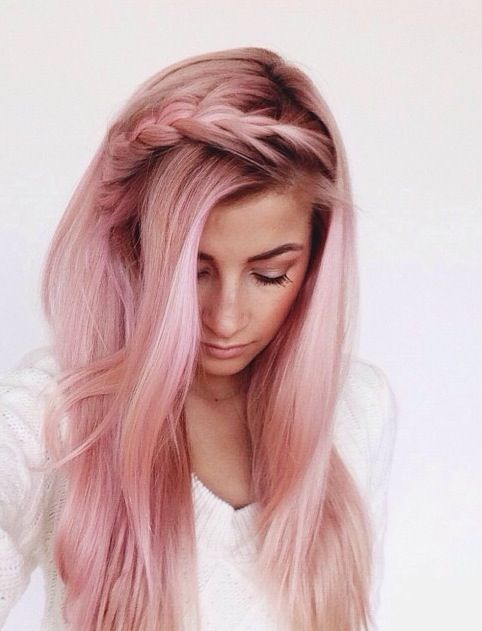 #pink #hair #braid