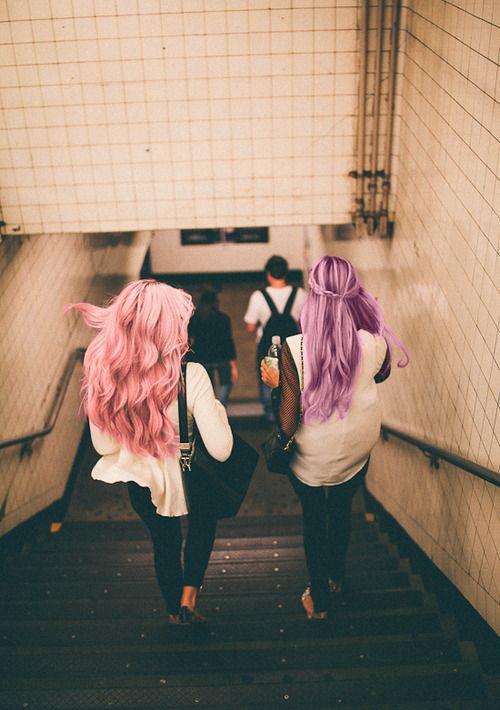 Pink hair - Purple hair