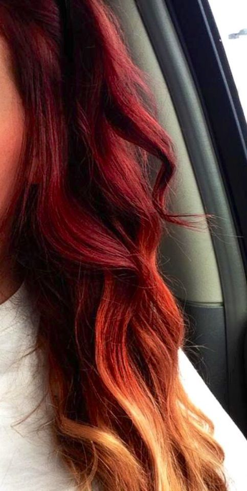Hair Styles 2017 2018 Red To Blonde Ombre Hair Color Flashmode