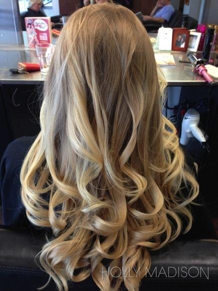 Soft, romantic curls.