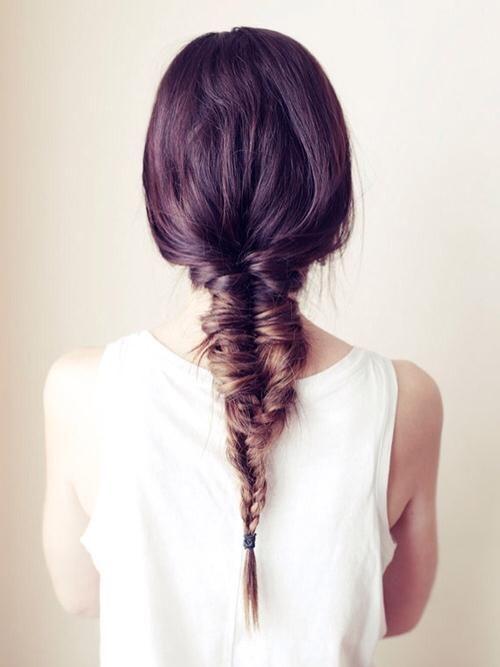 the elusive fishtail-three-strand combo #braids #hair