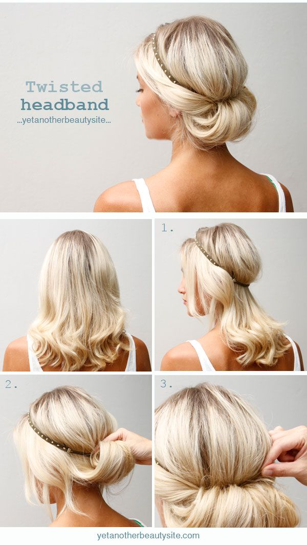 Twisted Headband Hairstyle Tutorial - Style Estate -
