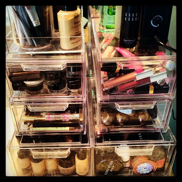 Anyway, back to makeup. I knew I had to do something different to store my makeu...