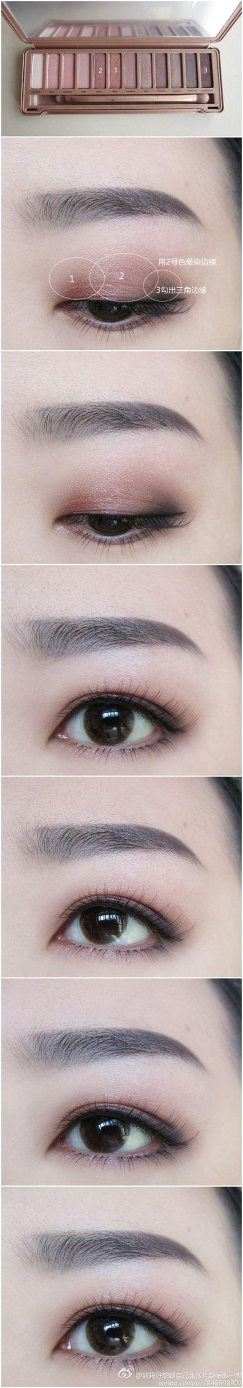 Asian makeup using color eye contact lenses #circlelens. SHOP from www.eyecandys...