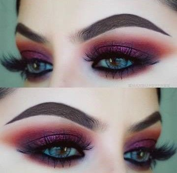 BERRY RED AND BURGUNDY TONES   5 AUTUMN FALL AND FESTIVE BERRY INSPIRED MAKEUP T...