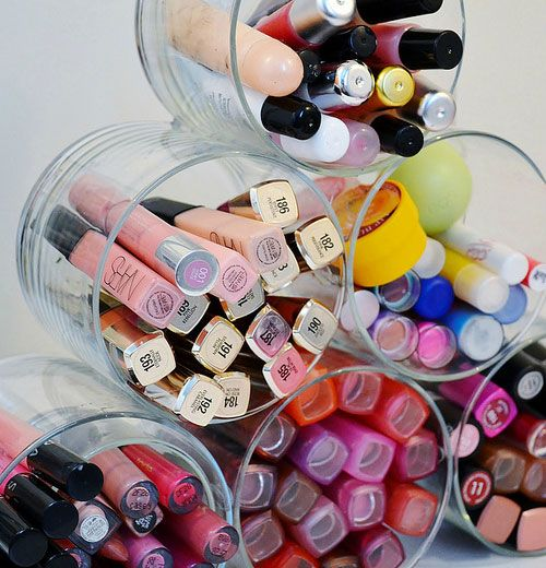 Click pic for 7 Make up Storage & Organization Ideas - Repurpose Old Candle Jars...