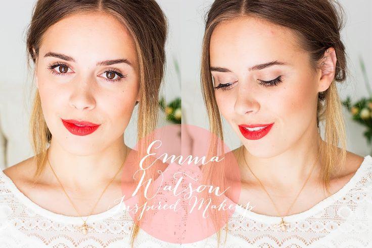 Emma Watson | Makeup Tutorial | Red Lip | Beauty | Hello October | hello-october...
