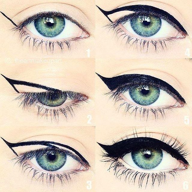 esta buy bien por la forma que le hace a los ojos y la lineas son rectas ♡ Bre...
