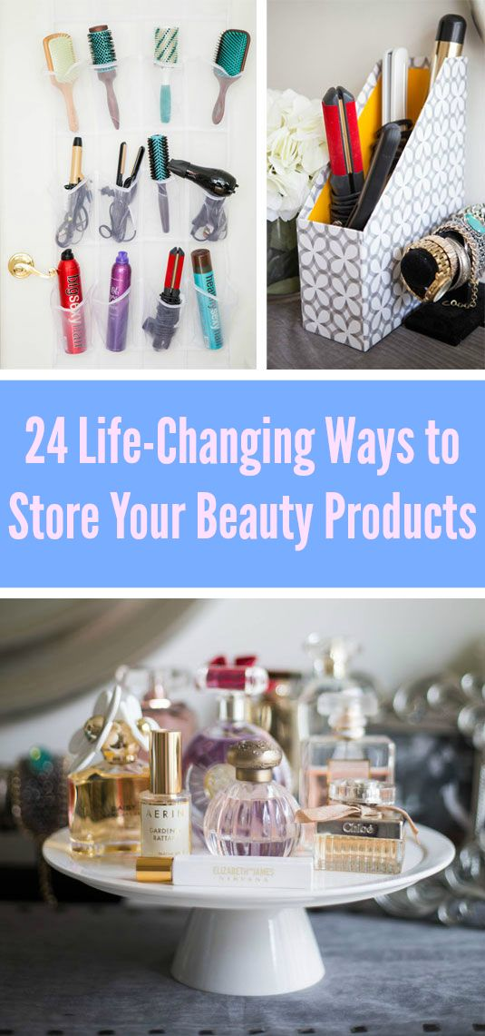 Even a small amount of makeup can make your bathroom or vanity look messy and cl...