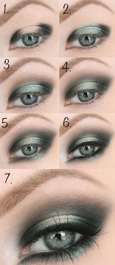 Eye makeup tutorial for green eyes - so pretty