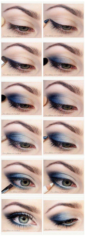 Eyeshadow Tutorials for Blue Eyes | 12 Colorful Eyeshadow Tutorials For Blue Eye...
