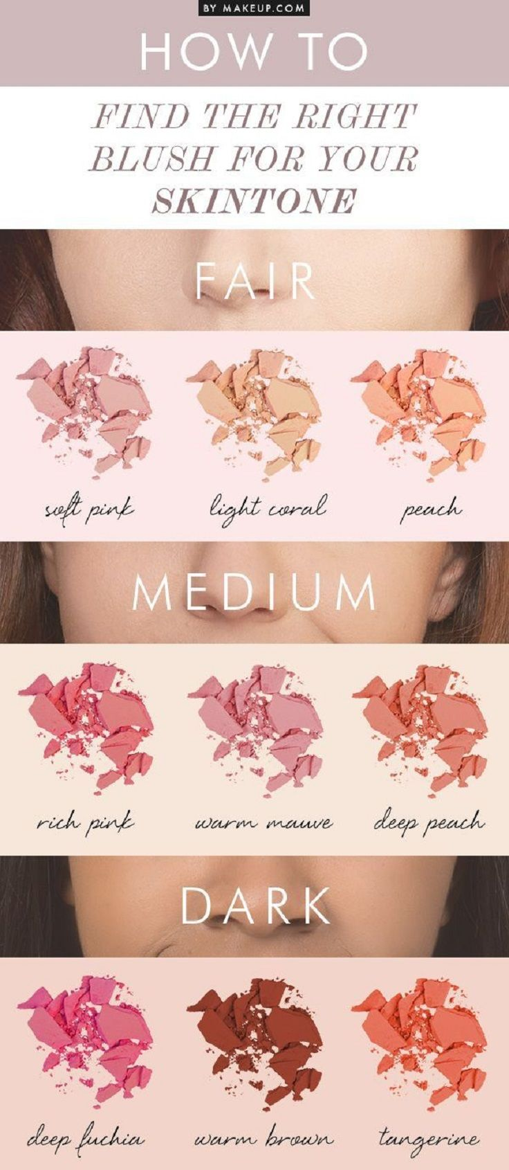Find The Right Blush For Your Skintone - 13 Best Makeup Tutorials and Infographi...