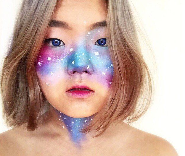 Galaxy Makeup Blue Eyes | Creative DIY Makeup Ideas You Can Try for your next Co...
