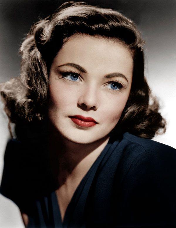 Hermosas maquillaje en 1940 Gene Tierney.  Haga clic aquí para aprender cómo c...
