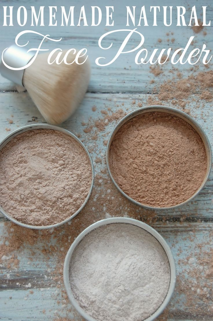 Homemade Natural Face Powder - Just three ingredients and suddenly you've ma...