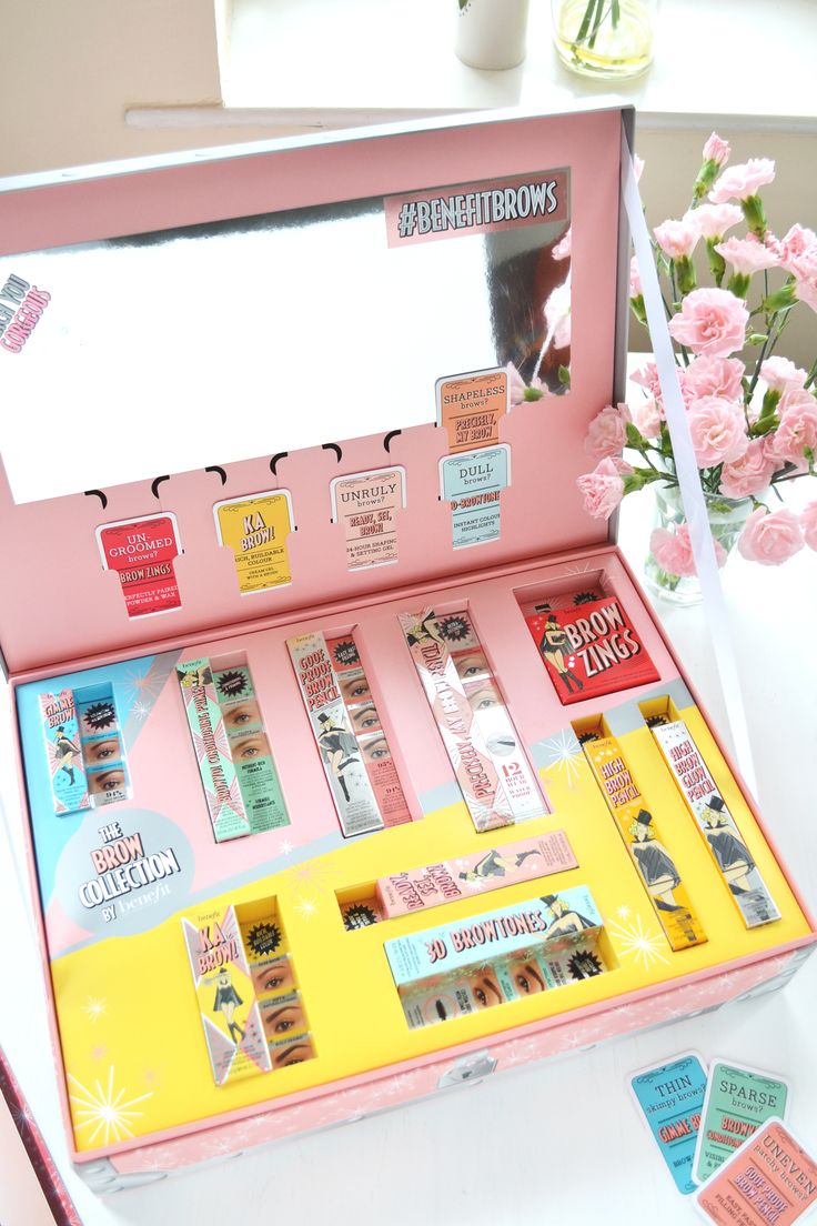 How BEAUTIFUL is the packaging for Benefit's new brow collection? *swoon*