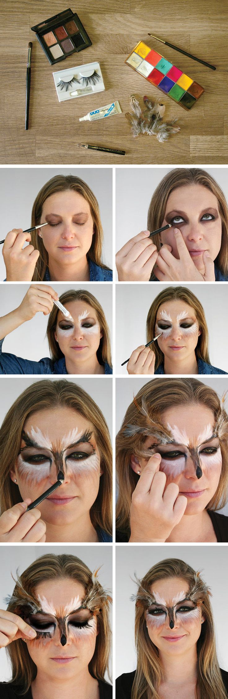 Need a jolt of last-minute #Halloween inspiration? We're 'owl' over it. #makeup ...