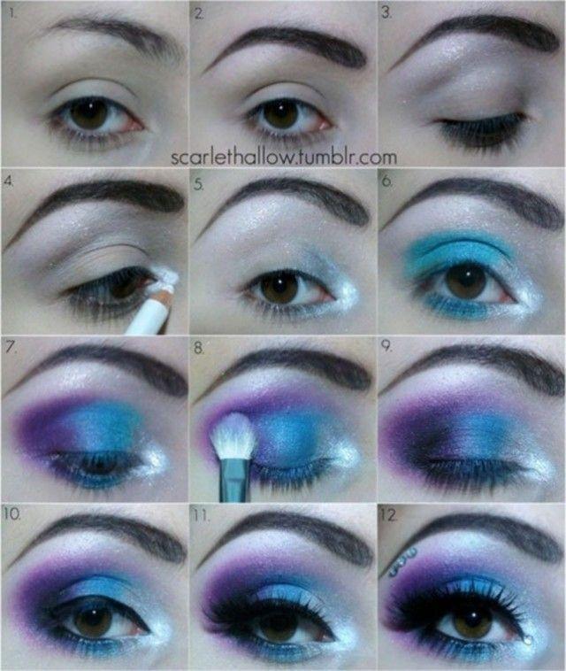 Perfect Blue Shade Makeup Tutorial