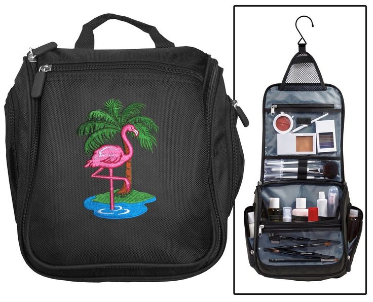 Pink Flamingo Toiletry Bags Or Cosmetic Travel Organizer Bag * You can find more...