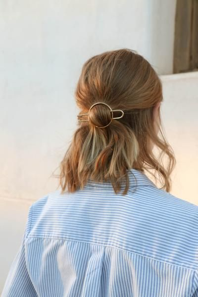 pretty little gold hair pin. the perfect minimal accessory — curated by ajaedm...